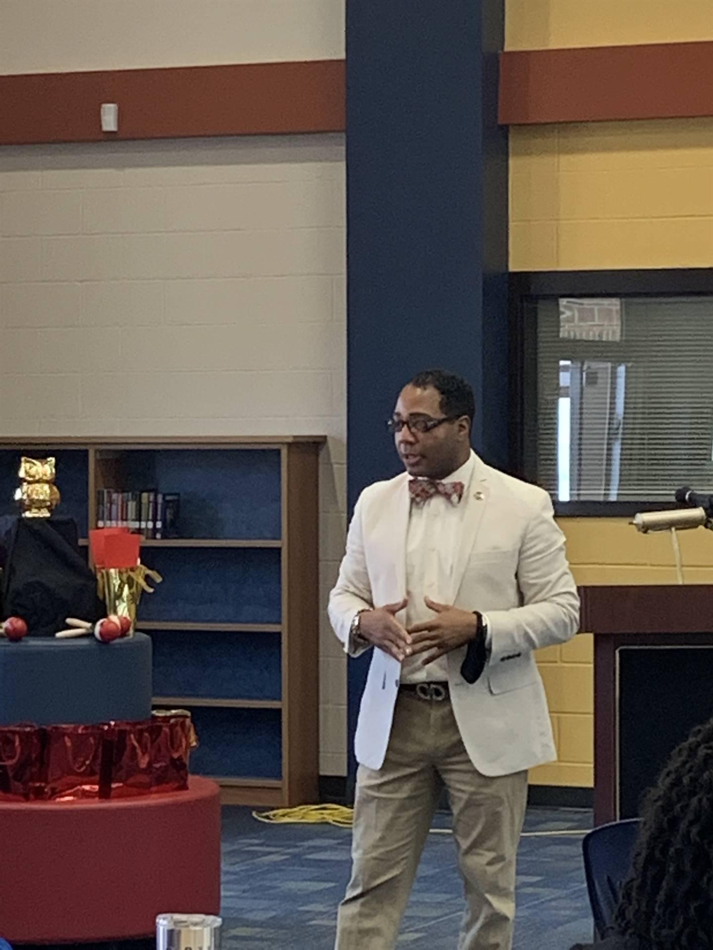 Dr. Berger presenting